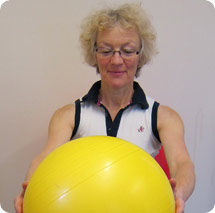 Physio for People Swiss Ball Exercise 1