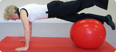 Physio for People Swiss Ball Exercise 2